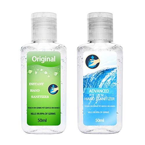 Hand Sanitizer Gel Hand Soap Hands Cleaner Disinfectant Hands Cleaning Gel,Starwak Travel Size Disposable Hands Sanitizer Moisturizing Refreshing Gel,Rinse Free and Alcohol Free (2PCS 50ML D)