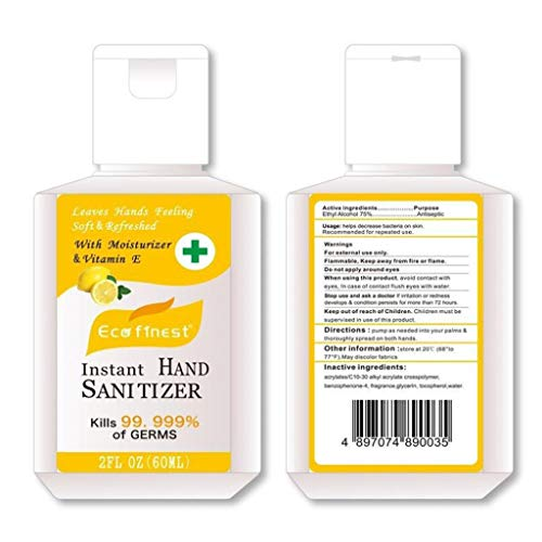 Samury Hand Sanitizer Gel with Pump No Rinse Foam Hand Soap Gel Kill 99.99% of Dirty Stuff 24 Hour Travel Hand Sanitizer Alcohol-Free Wash-Free Disinfecting Cleaner 60ml