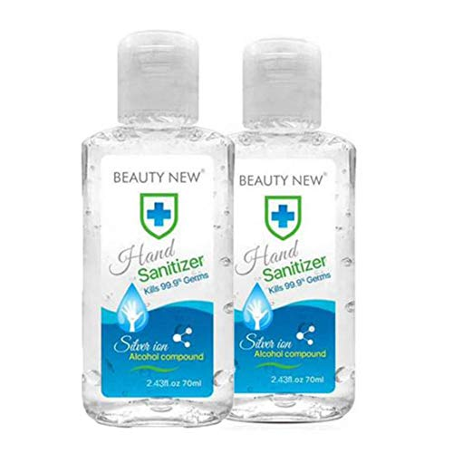 wangdongmei Liquid Hand Soap,Non-Washing Hand Sanitizers,Kill 99.99 of Germs 24 Hours of Lasting Protection Gel for Adults Kids,Disposable and Quick-Drying,2pack (2.4 Oz Each)