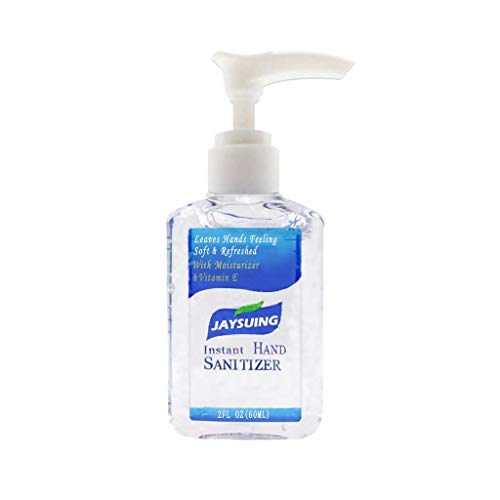 YiYLunneo Hand Soap, 60ML Portable No-Wash Quick-Drying Dvanced Hand Sanitizer Soothing Gel (12x5x3 cm-60ml, Clear)