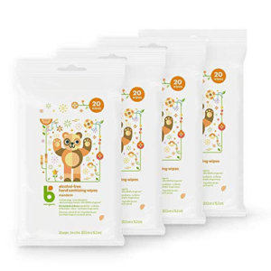 Babyganics Alcohol-Free Hand Sanitizing Wipes 4pc
