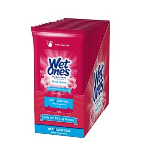 Wet Ones Antibacterial Hand Wipes 10pc