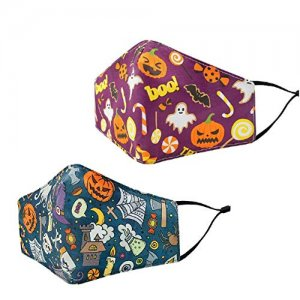 Reusable Halloween Face Mask 2pc