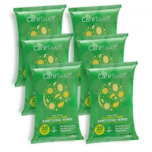 Care Touch Hand Sanitizing Wipes 6pc