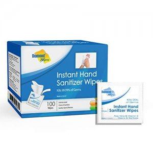 Diamond Wipes Instant Hand Sanitizer Wipes 100pc