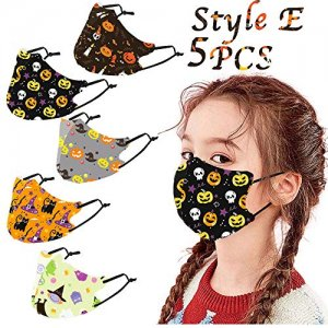 Kids Halloween Reusable Face Mask 5pc
