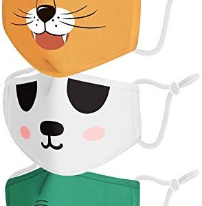Reusable Animal Kids Face Mask 3pc