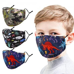 Reusable Cloth Kids Face Mask 3pc