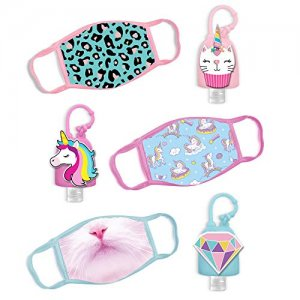 ABG Accessories Kids Face Mask, Hand Sanitizer Holder
